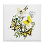 Butterflies of Summer Tile Coaster