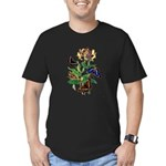 Butterflies and Honeys Men's Fitted T-Shirt (dark)