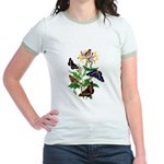 Butterflies and Honeysuckle Jr. Ringer T-Shirt