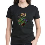 Butterflies and Honeysuckle Women's Dark T-Shirt