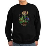 Butterflies and Honeysuckle Sweatshirt (dark)