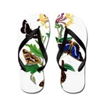 Butterflies and Honeysuckle Flip Flops