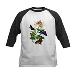 Butterflies and Honeysuckle Kids Baseball Jersey