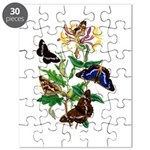 Butterflies and Honeysuckle Puzzle