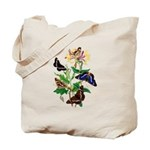 Butterflies and Honeysuckle Tote Bag