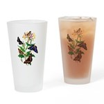Butterflies and Honeysuckle Drinking Glass