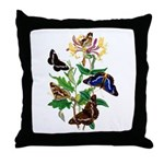 Butterflies and Honeysuckle Throw Pillow