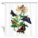 Butterflies and Honeysuckle Shower Curtain