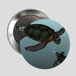 "Sea Turtles 2.25"" Button"