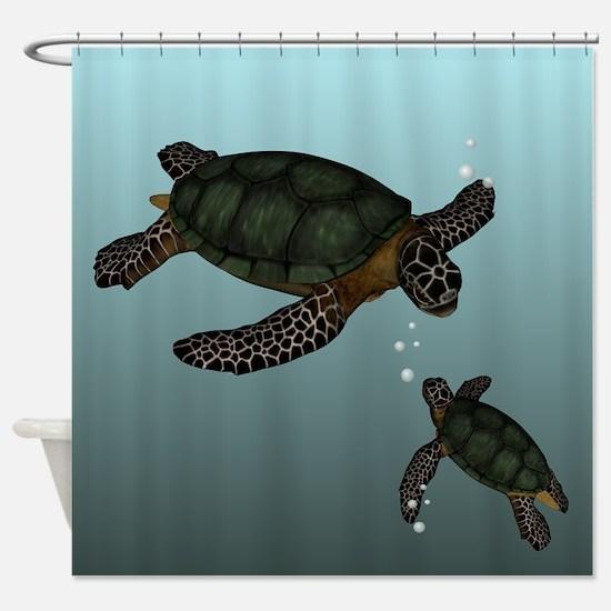 Sea Turtles Shower Curtain