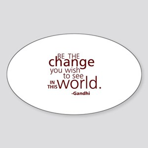 Gandhi Inspiration Sticker (Oval)