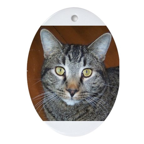 Tabby Cat Oval Ornament