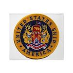 USS AMERICA Throw Blanket