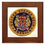 USS AMERICA Framed Tile