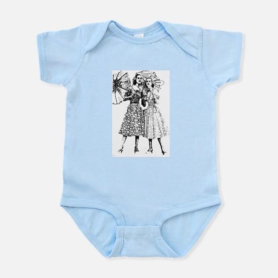 1950 Women Fashion Infant Bodysuit