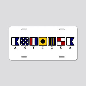 Antigua Aluminum License Plate