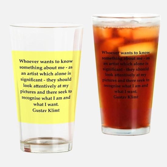 klimt4.png Drinking Glass