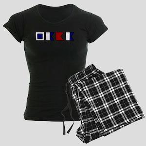Nautical Saba Women's Dark Pajamas