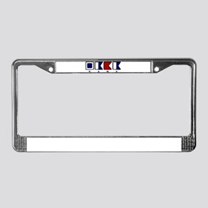 Nautical Saba License Plate Frame