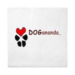 Dogananda logo Queen Duvet
