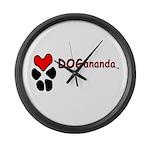 Dogananda logo Large Wall Clock