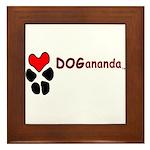 Dogananda logo Framed Tile