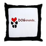 Dogananda logo Throw Pillow