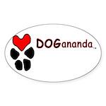 Dogananda logo Sticker (Oval 10 pk)