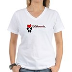 Dogananda logo Women's V-Neck T-Shirt