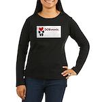 Dogananda logo Women's Long Sleeve Dark T-Shirt