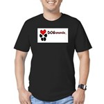Dogananda logo Men's Fitted T-Shirt (dark)