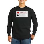 Dogananda logo Long Sleeve Dark T-Shirt