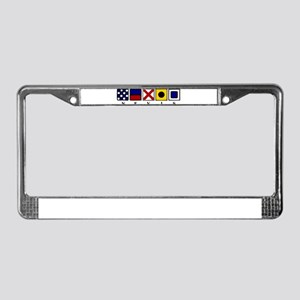 Nautical Nevis License Plate Frame