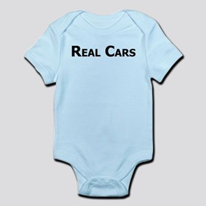 Real Cars text Infant Bodysuit