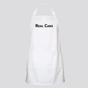 Real Cars text Apron
