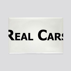 Real Cars text Rectangle Magnet