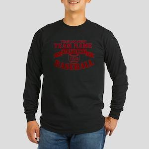 Your Team Fantasy Baseball Red Long Sleeve Dark T-