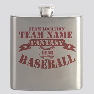 Your Team Fantasy Baseball Red Flask