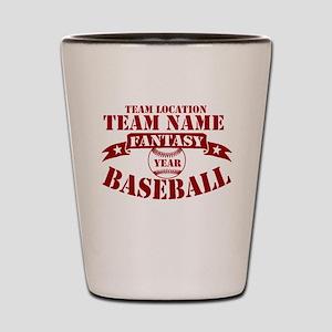 Your Team Fantasy Baseball Red Shot Glass