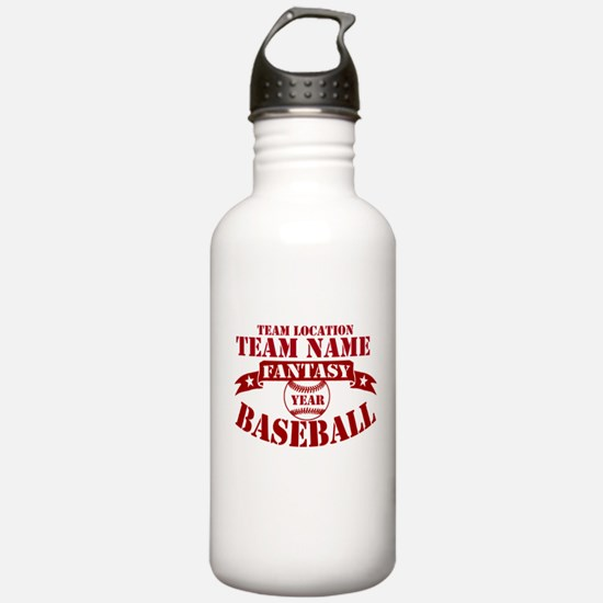 Your Team Fantasy Baseball Red Water Bottle