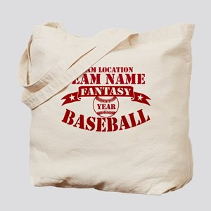 Your Team Fantasy Baseball Red Tote Bag