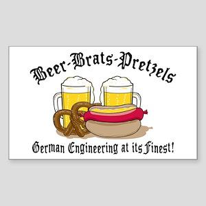 Funny German Rectangle Sticker