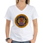 USS AMERICA Women's V-Neck T-Shirt