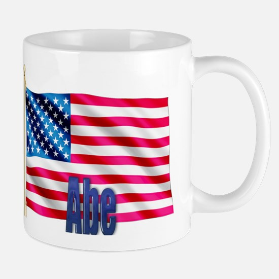 Abe Personalized USA Flag Mug