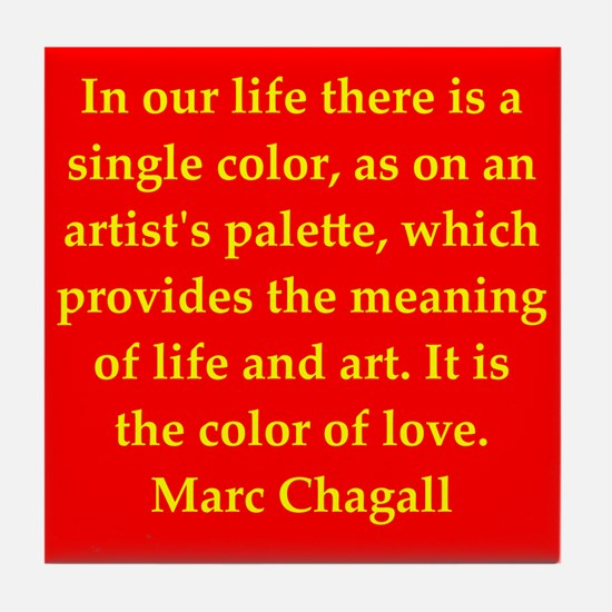 chagall6.png Tile Coaster