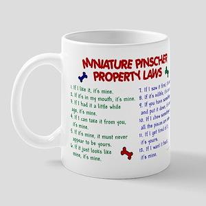 Miniature Pinscher Property Laws Mug