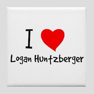 I Heart Logan Huntzberger Tile Coaster