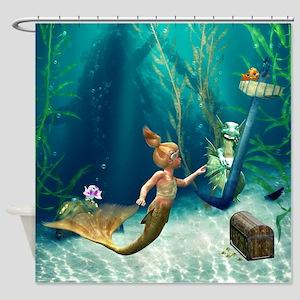 Cute Mermaid 2 Shower Curtain