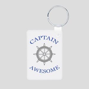 """""""Captain Awesome"""" Aluminum Keychain"""