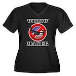 OSPREY4 Women's Plus Size V-Neck Dark T-Shirt
